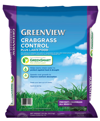 GreenView Crabgrass Control plus Lawn Food with GreenSmart 21-31178